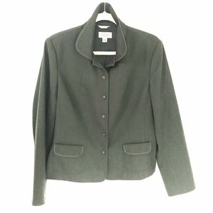 Talbots* Blazer Jacket Thin Lined Olive Forest 14